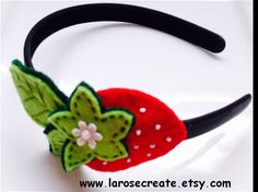 Strawberry Headband Girl Headband Felt strawberry by LaRoseCreate, $8.50