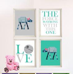Baby Girl Star Wars Nursery Art Girl Room by StarWarsPrintShop, $32.00