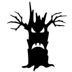 Give your home decor a eerie decoration with this glossy black vinyl wall decal. Ideal for your next Halloween party or event, this spooky, easy-to-apply decor features the image of a tree with an evil face.