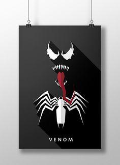 Flat design movie/comic heroes & villains on Behance