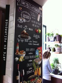 A full vector template chalkboard menu for restaurant and snack bars with grunge elements file - Decoraciones de restaurantes ...