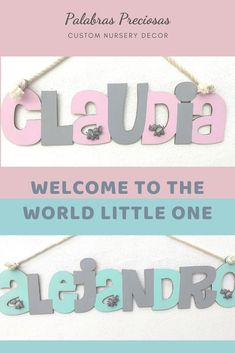 A name sign for a newborn nursery is the most personal gift for a new mom.  This hanging sign can be painted to match nursery decor and is decorated with the cutest elephants to complement your elephant nursery decor.  #nurseryinspo #elephantnursery #babygirlgift #babyboygift #newmomgift #momtobegift #uniquebabygift