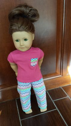 Check out this item in my Etsy shop https://www.etsy.com/listing/211059742/american-girl-doll-pajama-set-2-piece