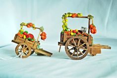 Accessorio per presepe - Carro Frutta e Verdura