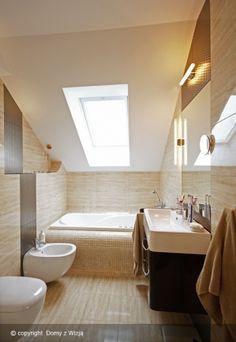 realizacja 1 - zdjęcie 22 Bathroom Interior, Bungalow, Sweet Home, Bathtub, House Design, Inspiration, Dream Homes, Bathrooms, Houses
