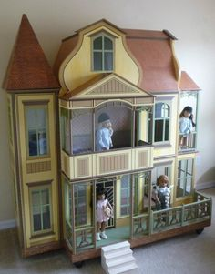 """New Dollhouse All Wood With Litho Style Papering Sasha & Ag Dolls 16-18"""" Dolls"""