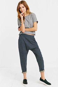 BDG Printed Porter Ankle Pant