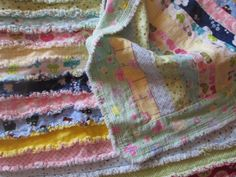 Rag Quilt  Baby by SewUniquepkj on Etsy