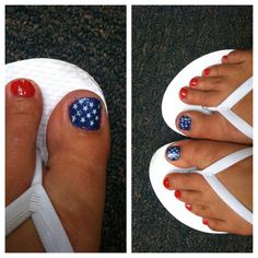 #red #white & #blue nails by me!!!