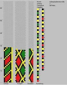 7 around bead crochet rope pattern