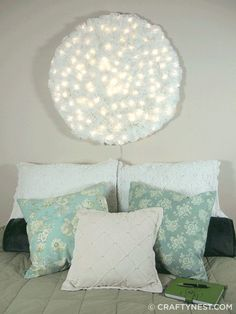 DIY Coffee Filter Crafts | Wall Art Ideas by DIY Ready at http://diyready.com/uses-for-coffee-filters-diy-projects-and-ideas