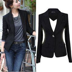 803013b9e3149 Mode À Manches Longues Un Bouton Slim Casual Femmes Blazer Costume Veste  Manteau Outwear Blazer Suit