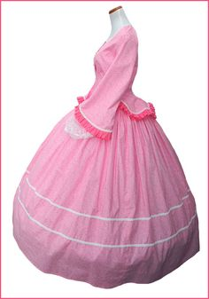 Victorian Tea Gowns | 1800's 2 pc Civil War Victorian Pink Tea Dress Day Gown Gorgeous New ...