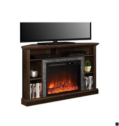 Electric Fireplace Tv Stand Corner Corner Electric Fireplace Tv Stand You'll Love In 2020 . Lowest Price Online On All Dimplex Colleen Corner TV Stand . Corner Electric Fireplace TV Stand Brown Hold Most 45 Inch . Home and Family Corner Unit Tv Stand, Corner Electric Fireplace, Corner Fireplaces, Swivel Tv Stand, Tv Furniture, Fireplace Inserts, Cool House Designs, Link, Tvs