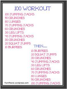 100 Ladder Workout