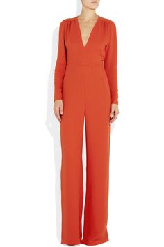 Stella McCartney | Wide-leg crepe jumpsuit | NET-A-PORTER.COM
