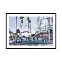 Santa Cruz Boardwalk, Beach Boardwalk, Amusement Parks In California, Large Wall Prints, Santa Cruz Beach, Glass Printing, Coastal Wall Art, Beach Print, Landscape Prints