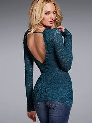 Combines my two favorite styles...lace and open back!