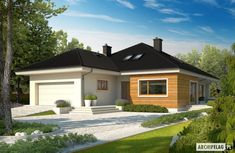 Here you will find photos of interior design ideas. Get inspired! Cottage Style House Plans, Duplex House Plans, Bungalow House Plans, Layouts Casa, House Layouts, Prefabricated Houses, Prefab Homes, Style At Home, House Layout Plans