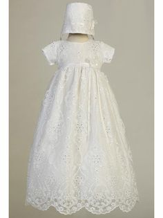 b486b6af02f Swea Pea   Lilli Bonnie White Embroidered Tulle Long Gown w  Sequins