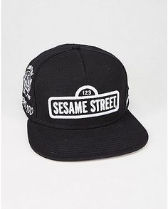 c33c9656068 Embroidered Sesame Street Snapback Hat - Spencer s