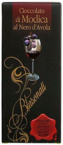 Authentic I Blasonati: Modica Chocolate, Nero d'Avola Taste * 3.5 Ounce (100gr) Packages (Pack of 3) * , ,