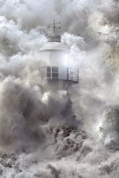 Lighthouse keeper searched :-)) by Jasna Matz Photography Lighthouse Storm, Lighthouse Pictures, Lighthouse Keeper, Cool Pictures, Cool Photos, Beautiful Pictures, Stürmische See, Stormy Sea, Water Tower