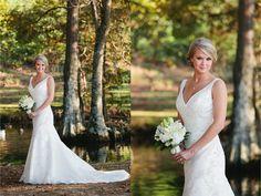 Bridal Portraits by a lake