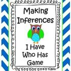 Inference is a tricky reading comprehension skill that can be easy and fun with this Common Core aligned I Have Who Has game from Book Buddies.  Great for literacy centers, partners, pre-teach, review and more.  Blank cards are included for your kids to create their own game extension.