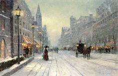 Winter's Dusk   The Thomas Kinkade Company