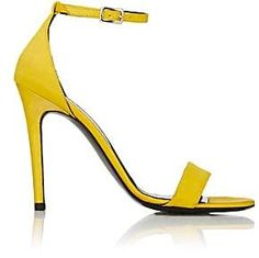 0ba6534352c4 Barneys New York Women s Satin Ankle-Strap Sandals - Yellow Comfortable  Sandals