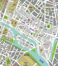 paris france 4th arrondissement map main streets and squares place de la bastille