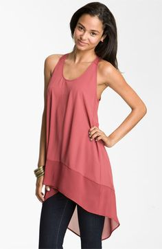 sheer chiffon high- low available at #Nordstrom