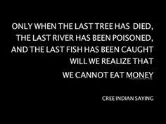 Cree indian saying