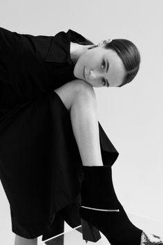 Flattered Lena Lademann Black SuedeBlack Nappa Black