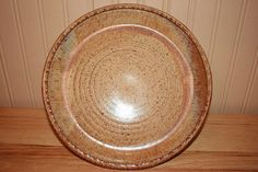 Beautiful pottery plate pie plate creamy soft by earthyharvest