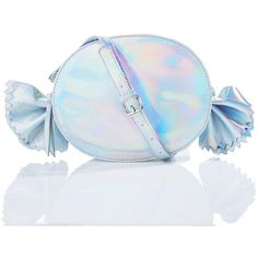 Gimme Candy Bag (5.715 HUF) ❤ liked on Polyvore featuring bags, handbags, shoulder bags, nila anthony handbags, blue shoulder bag, silver shoulder bag, iridescent purse and nila anthony purse