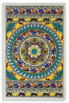 Online Shopping for Madhubani painting Circle of life Art Wall n Madhubani Painting, Mandala Painting, Mural Painting, Fabric Painting, Madhubani Art, Indian Folk Art, India Art, Arabic Art, Art N Craft