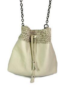 """Grace"" beige bucket bag Bucket Bag, Ss, Beige, Shoulder Bag, Crochet, Leather, Fashion, Moda, Fashion Styles"