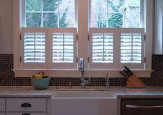 Thinking about interior shutters cafe style in the kitchen (or sitting area).
