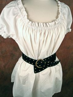 White cotton (or ANY color) ruffle SHORT sleeved - Renaissance Medieval shirt chemise - on Etsy, $25.35 CAD