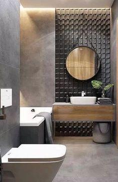 latest stylish bathroom Decoration and Design trends for 2019 Part ; Bathroom Decor Sets, Bathroom Styling, Modern Bathroom, Small Bathroom, Bathroom Ideas, Bathroom Organization, Bathroom Mirrors, 1930s Bathroom Wallpaper, Bathroom Storage