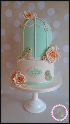 Spring Birdcage Wedding - Cake by Dollybird Bakes