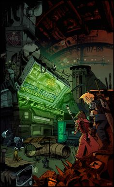 """Back in Sector 7"" by Enjeru. (Final Fantasy 7)"