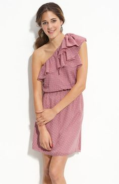 Love on a Hanger Ruffled One Shoulder Dress