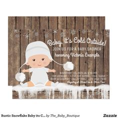Rustic Snowflake Baby its Cold Outside Baby Shower                                                                                                                                                      More