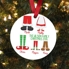 Personalized Family Christmas Ornament - Family Christmas Gift - Family christmas decoration