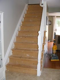 Diy Pine Stair Treads Remodel For The Home Pinterest
