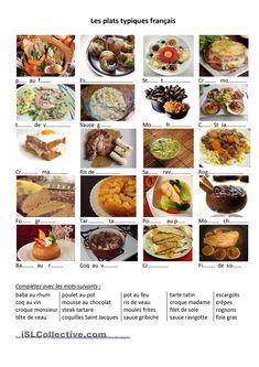 Alimentation - des plat typiques français
