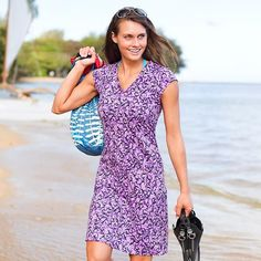Love this as a swimsuit coverup. Printed Nectar Dress | Athleta